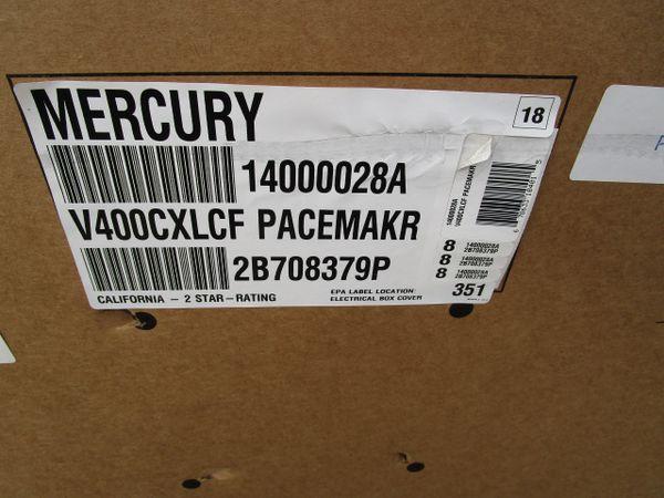 New Mercury 400 CXL Verado pacemaker
