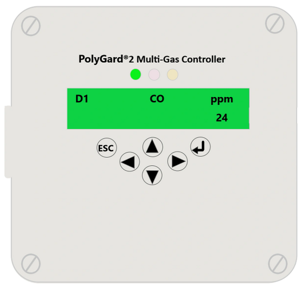 Honeywell PolyGard®2 Multi-Gas Controller MGC2-K 24VDC