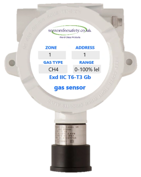 S4S Guardian® Point XDI Addressable Exd Gas Sensor - Hazardous Area Rating Exd IIC T6