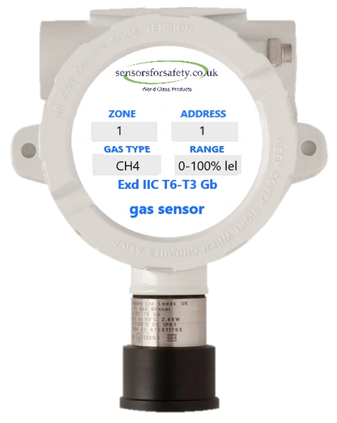 S4S Guardian® Point XDI 4-20mA Exd Gas Sensor - Hazardous Area Rating Exd IIC T6