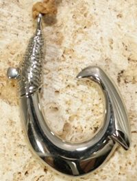 Island Style Fish Hook Necklace Stainless Steel