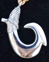 Small Stainless Steel Fish Hook Necklace