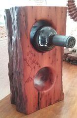 FL Keys Mahogany Log Slab Wine Rack