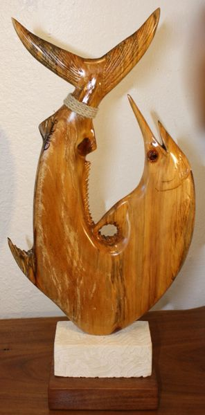 Blue Marlin Fish Hook Sculpture