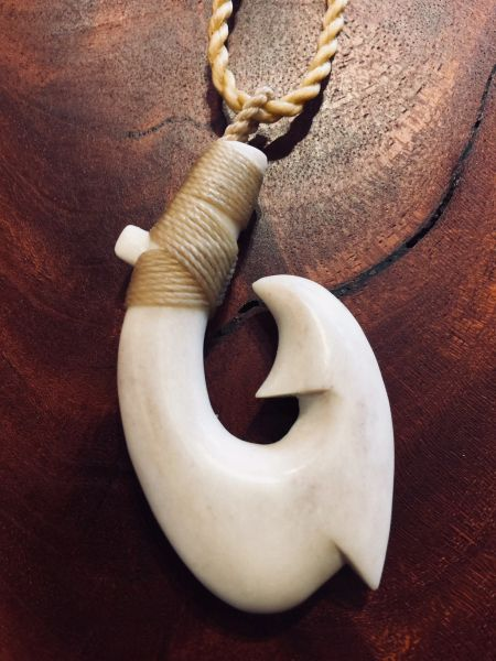 Island Fish Hook Necklace Moose Antler Shed Double Barb