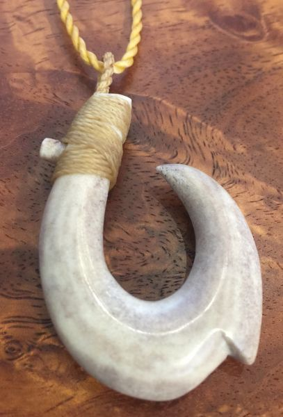 Island Fish Hook Necklace Moose Antler 04