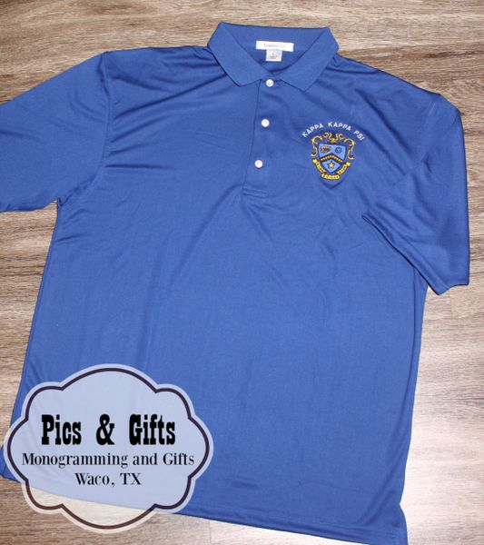 42c6c046f7cd Royal Blue Dri Fit Polo- Kappa Kappa Psi   Pics & Gifts