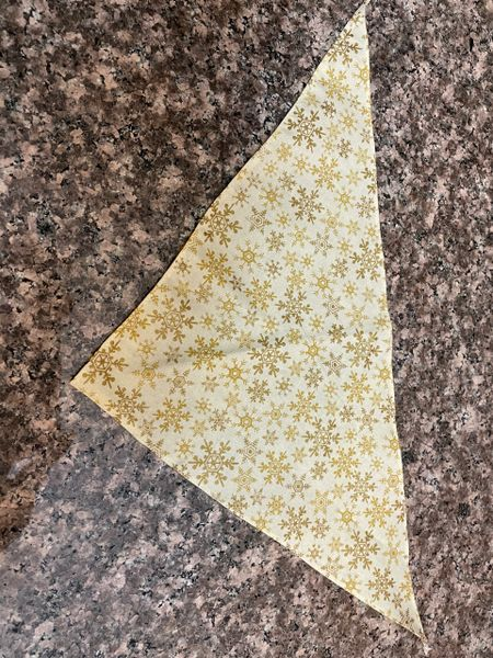 Golden Snowflakes Small Bandanna (measures 16 inch)