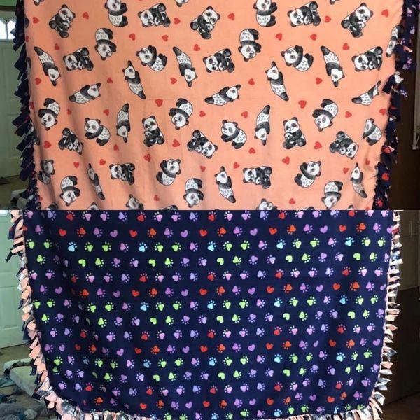 Tie Fleece Blankets