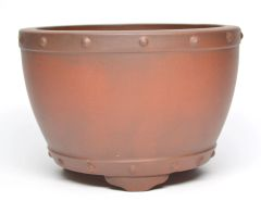 "Unglazed Round Chinese - High Quality Pot - 6"" round 4"" height"