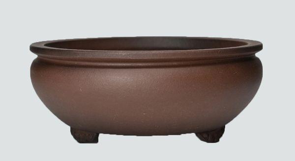 Unglazed Round Chinese Bonsai Pot