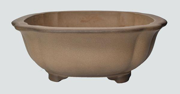 Unglazed Lotus Chinese Bonsai Pot