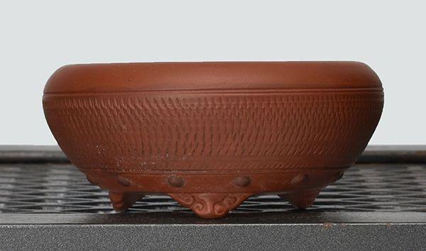 Unglazed Round Japanese Bonsai Pot Bigei