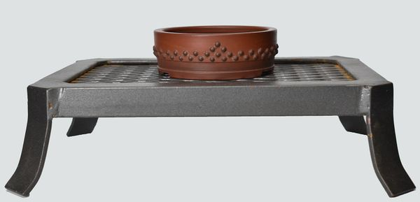 Unglazed Drum with Beads Japanese Bonsai Pot Bigei