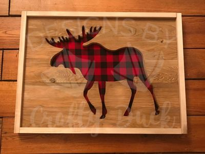 Custom CNC Moose Home Decor