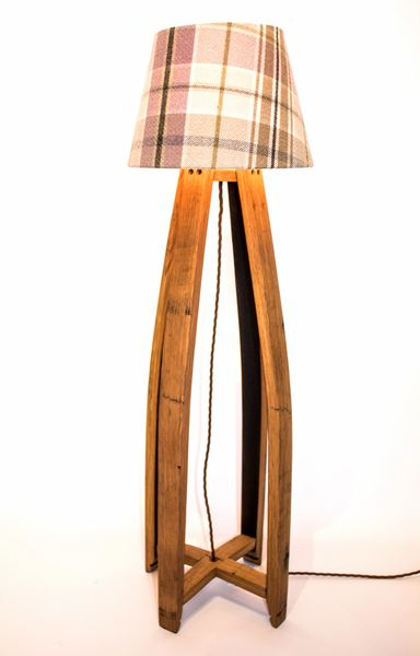 Oak Scotch Whisky Barrel Floor Lamp