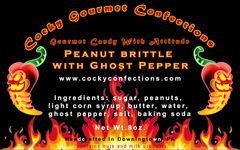Peanut Brittle with Ghost Pepper (HOT)(8 oz.resealable pouch)