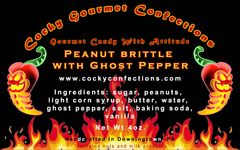 Peanut Brittle with Ghost Pepper (HOT)(4 oz.resealable pouch)
