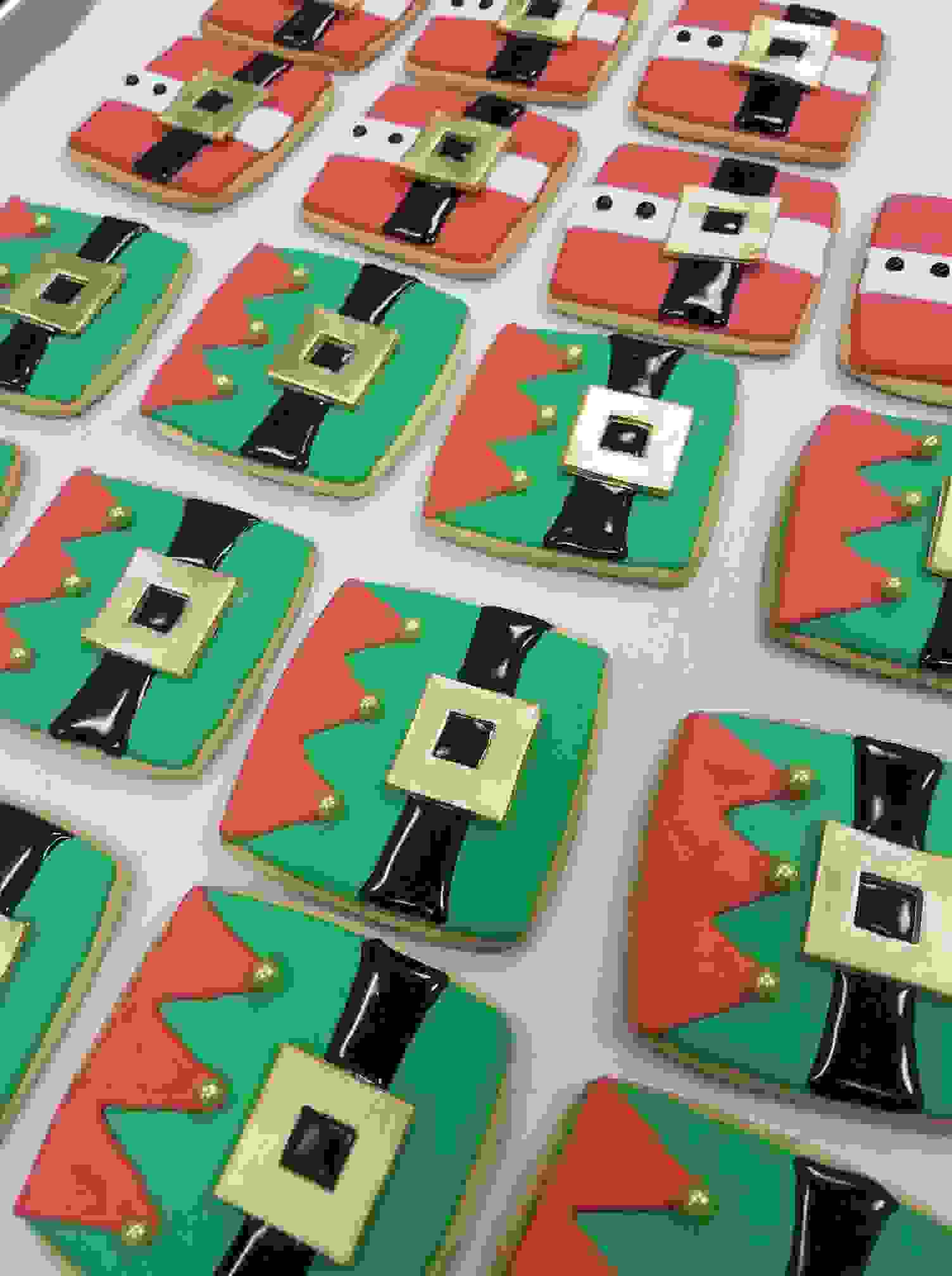 Elf Cookies and Santa Sugar cookies for Christmas