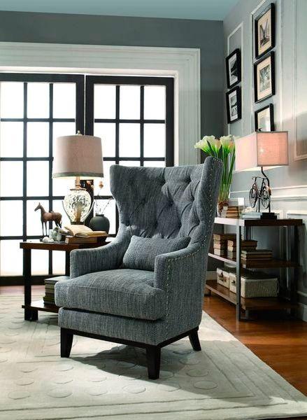 Enjoyable Dark Grey Accent Chair From The Adriano Collection Mmidsxe1217F1S Caraccident5 Cool Chair Designs And Ideas Caraccident5Info
