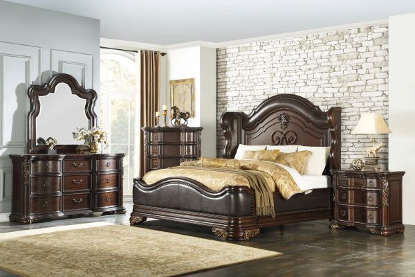6 Piece Traditional Bedroom Set from the Royal Highlands Collection  (MMIDSXE1603)