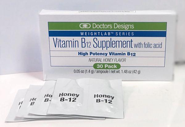 Vitamin B12 Supplement with folic acid blister packs (Honey Flavor)