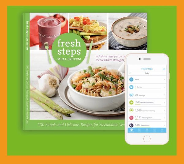 Fresh Steps Meal System Cookbook (Healthtrac App Included)