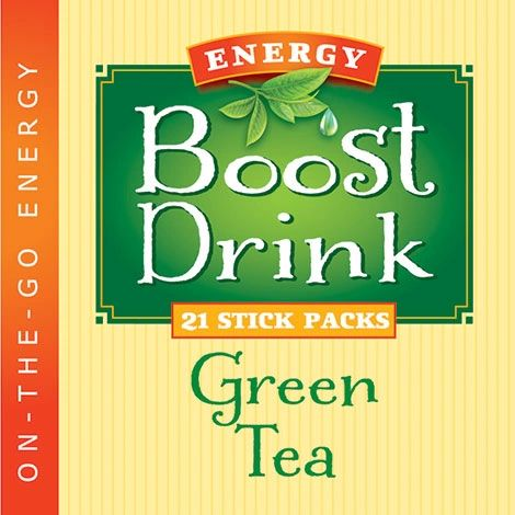 Green Tea Energy Boost Drink - (21ct.) Low Cal/Low Carb