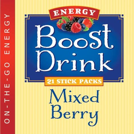 Mixed Berry Energy Boost Drink - (21ct.) Low Cal/Low Carb