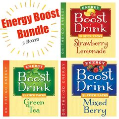 Energy Boost Bundle - 3 Flavors (63 ct.) - Low Cal/Low Carb