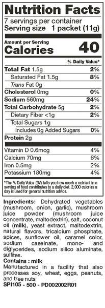 Soup Flavor Packs (7 Ct.) Creamy Mushroom FLAVOR PACKS