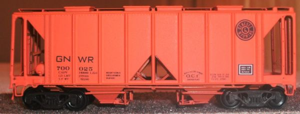 GENESEE AND WYOMING PS 2 OPEN SIDE HOPPER HO DECAL SET