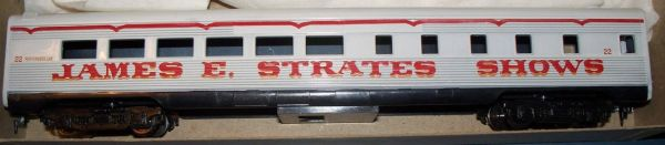 JAMES E. STRATES SHOWS PASSENGER COACH HO DECAL SET