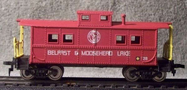 Belfast & Moose Head Lake Steel Caboose HO decal set