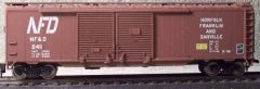 NORFOLK FRANKLIN & DANVILLE R.R. 50 FT DD BOXCAR HO DECAL SET