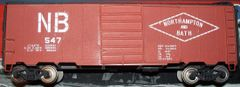 NORTH HAMPTON & BATH 40 FT SD BOXCAR HO DECAL SET