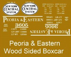 P&E RAILROAD STEAM ERA HO DECAL 40 FT. BOXCAR SET