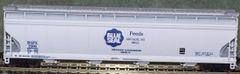 Blue Seal Feeds-HO Scale hopper car set. A Modern Rails Original Idea.