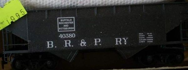Buffalo, Rochester & Pittsburgh Ry. Coal hopper HO decal set,