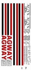AGWAY CYLINDER HOPPER G-CAL DECAL SET