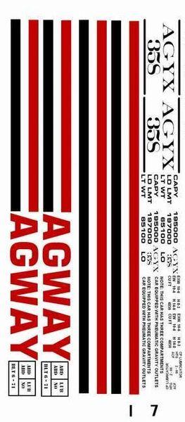 AGWAY CYLINDER HOPPER G-CAL DECAL SET