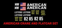AMERICAN CRANE CO. G-CAL DECAL SET