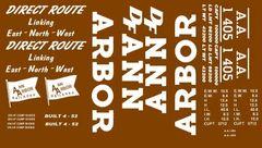 ANN ARBOR 40 FT BOXCAR G-CAL DECAL SET