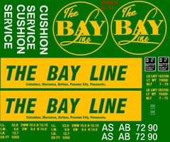 THE BAYLINE 53 FT EVANS BOXCAR G-CAL DECAL SET