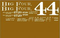 BIG 4 G-CAL DECAL SET- WOOD BOXCAR