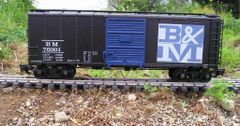 BOSTON AND MAINE R.R. 40 FT BOXCAR G-CAL DECAL SET