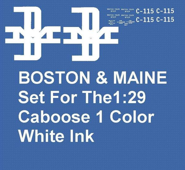 BOSTON & MAINE CABOOSE G-CAL DECAL SET