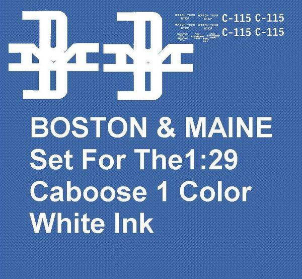 BOSTON & MAINE CABOOSE G-CAL DECAL SET