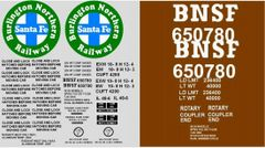 BNSF COAL- VEYOR G-CAL DECAL SET