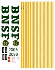 BNSF DIESEL LOCO G-CAL DECAL SET